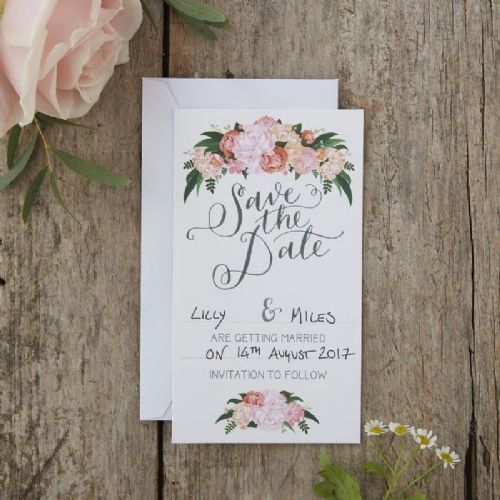 Floral Save The Date Cards 10pk